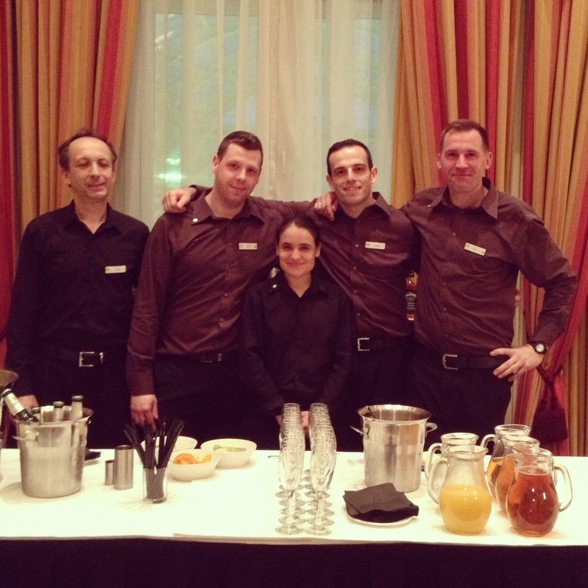 The lovely hotel staff