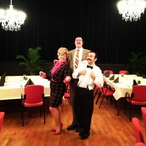 Ali, Jordan & Anthony as Sybil, Basil & Manuel before the first show