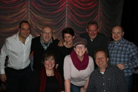 Jeremy Dorling, Dave Playford, Desiree Dorling, Rob Lammeree, Keith Fletcher, Regina Playford & Rick Busbridge.