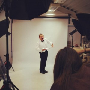 Manuel backstage photo faulty towers photo shoot